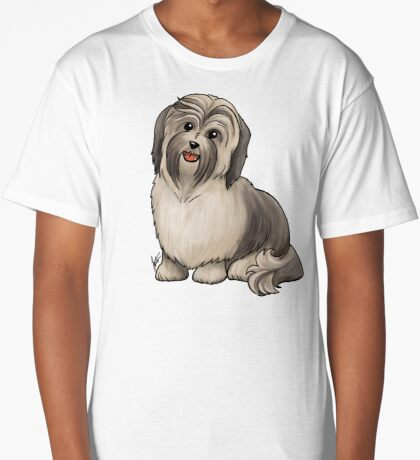 Havanese Dog Long T-Shirt