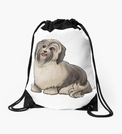 Havanese Dog Drawstring Bag