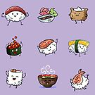 Sushi Pals (Purple) by Alex Heberling