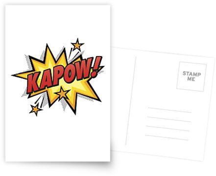 Kapow! Comic book retro art by k3rstman1
