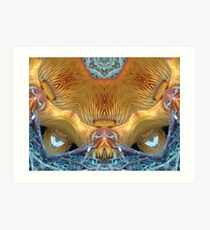 Orange Fungi altered image Art Print
