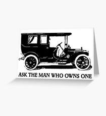 1909 Packard Limousine Slogan Greeting Card