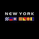 New York Nautical Maritime Sailing Flags Dark Color by TinyStarAmerica