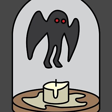 Moth Man Candle by WCGross