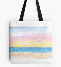 Pastel Sunset in Watercolor Tote Bag
