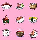 Sushi Pals (Pink) by Alex Heberling