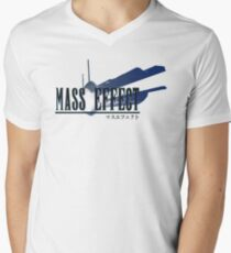 Mass Effect - In the Style of Final Fantasy Men's V-Neck T-Shirt