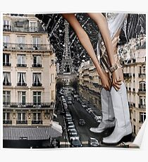 Surreal Fashion in Paris Poster