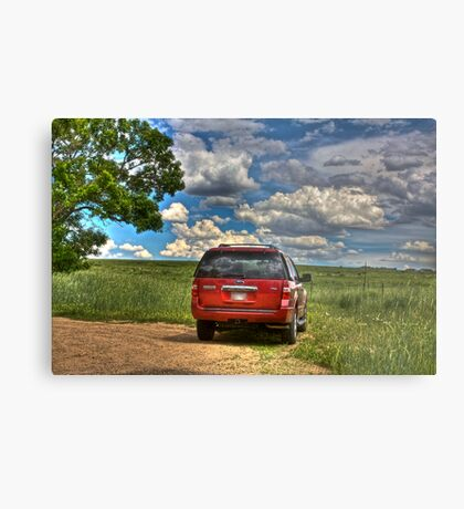 2008 Ford Expedition - Red Metal Print