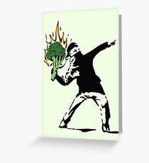 Vegan Banksy Greeting Card