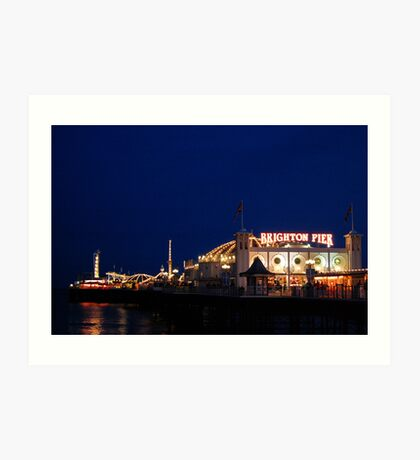Brighton (Palace) Pier at night. Art Print