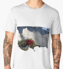 President John Kennedy Tombstone With Snow Men's Premium T-Shirt