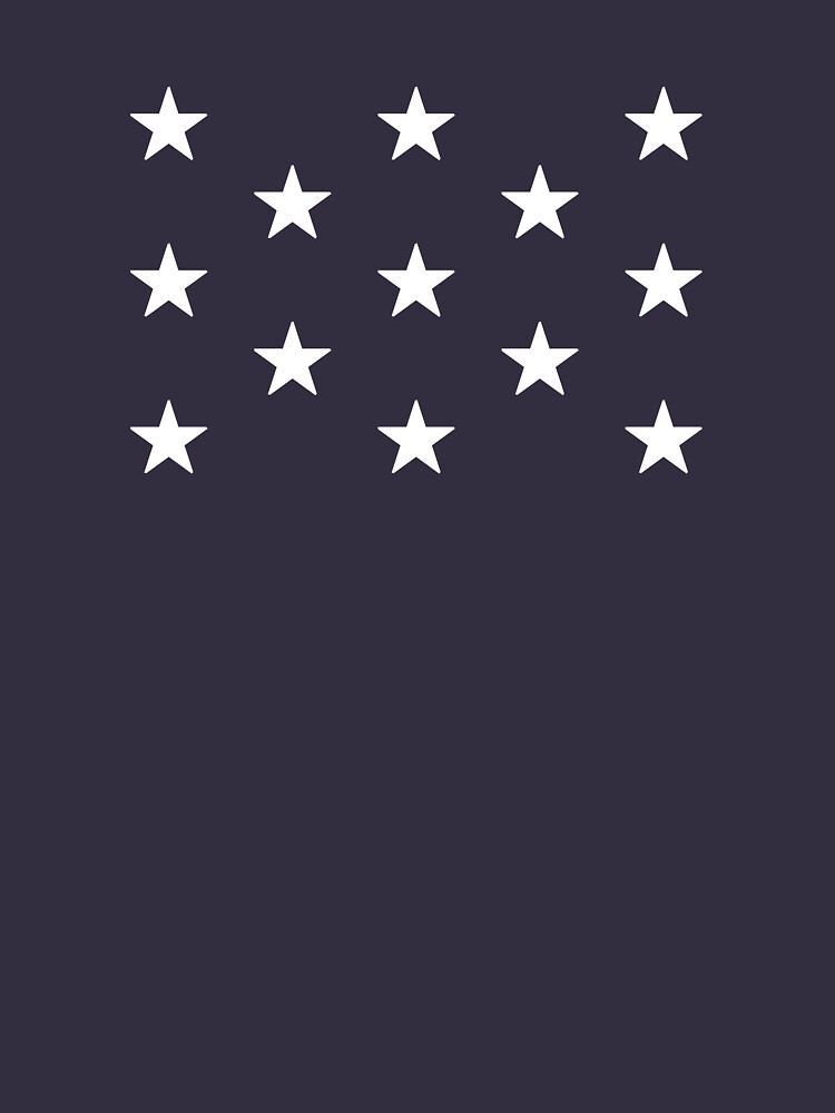 13-Star American Flag, Quincunx Design, Evry Heart Beats True by EvryHeart