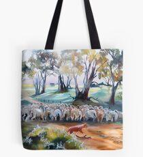 Bringing In The Lambs  Tote Bag