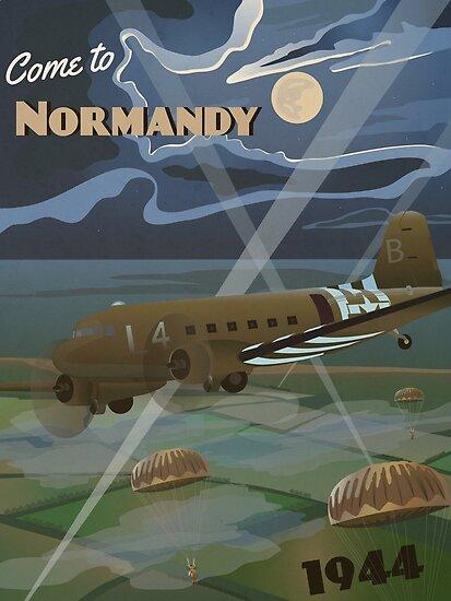 """Normandie 1944 """"D-Day Reise Poster"""" von Grayhanch"""