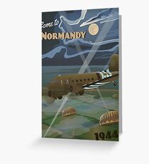 """Normandy 1944 """"D-Day Travel Poster"""" Greeting Card"""