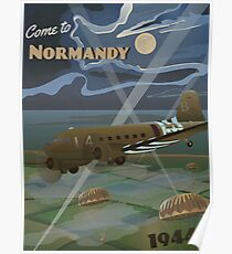 "Normandie 1944 ""D-Day Reise Poster"" Poster"