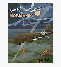 """Lámina fotográfica Normandía 1944 """"Cartel del viaje del día D"""""""