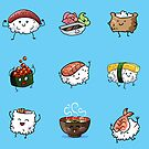 Sushi Pals (Blue) by Alex Heberling