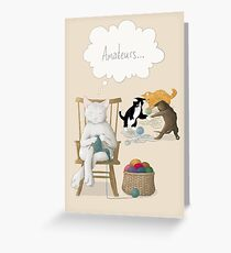 Of Cats and Yarn Greeting Card