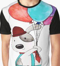 Hund mit Paloons Grafik T-Shirt