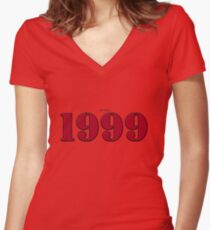 1999 - St - Red Women's Fitted V-Neck T-Shirt