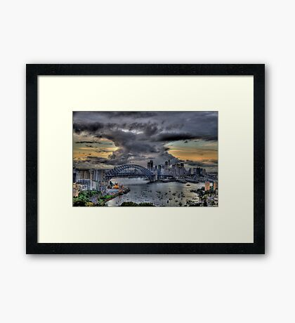Trepidation - Moods Of A City - The HDR Experience Framed Print