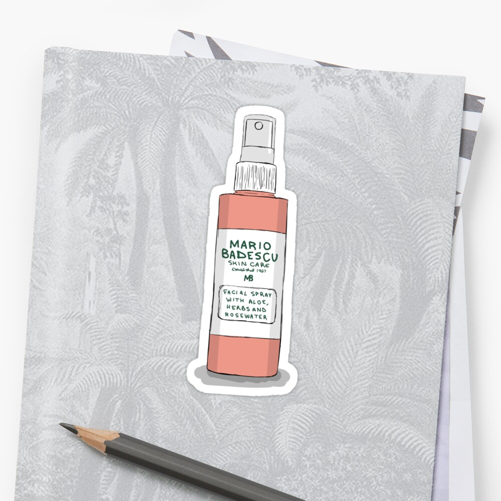 Quot Mario Badescu Rose Spray Quot Stickers By Laughingsanya