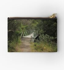 Walking Bridge on a Forest Path Studio Pouch