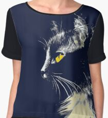 Mysterious Cat Chiffon Top