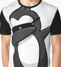 Cool Dabbing Penguin Graphic - Cute Funny Penguin Dab Design Graphic T-Shirt