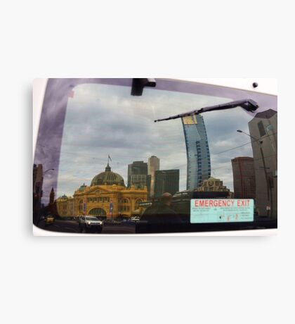 Reflected World: Emergency Exit Canvas Print