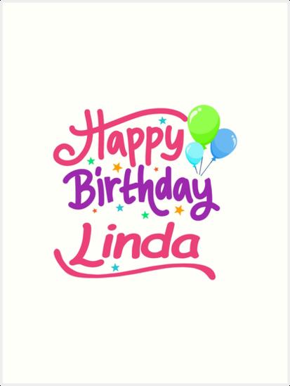 Joyeux Anniversaire Linda Impressions Artistiques Par Pm Names