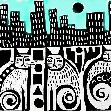 City Cats by karincharlotte