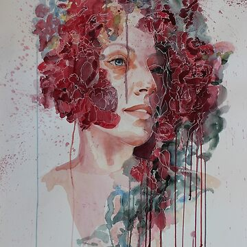 FLEUR woman in watercolour by robynbradshaw