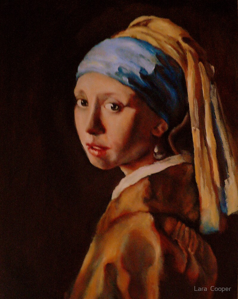 Girl With A Pearl Earring, After Vermeer Unfinished