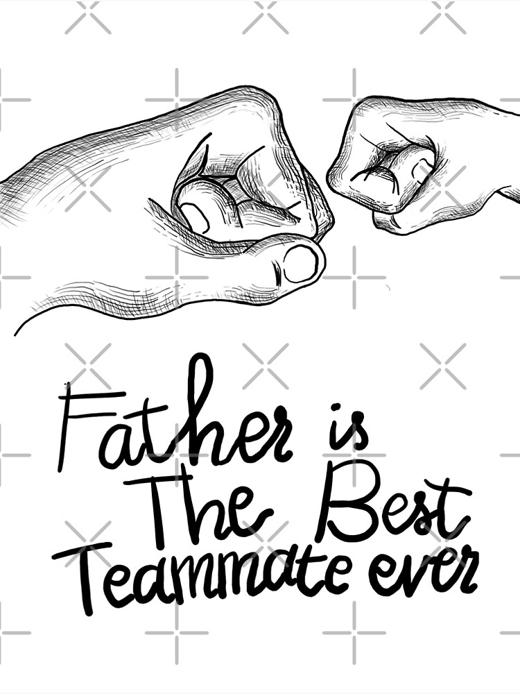 Fathers Day Special Gift Father Is The Best Teammate Ever Greeting Card