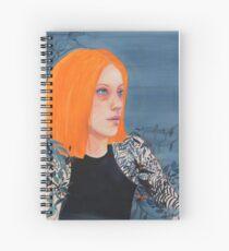 Orange & Indigo girl Spiral Notebook