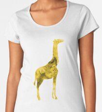 Camiseta premium de cuello ancho Jirafa Funny Animals acuarela camiseta niños regalo