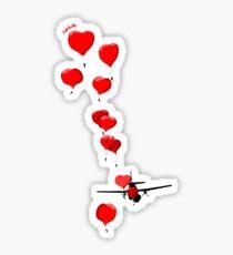 parachutes of love Sticker