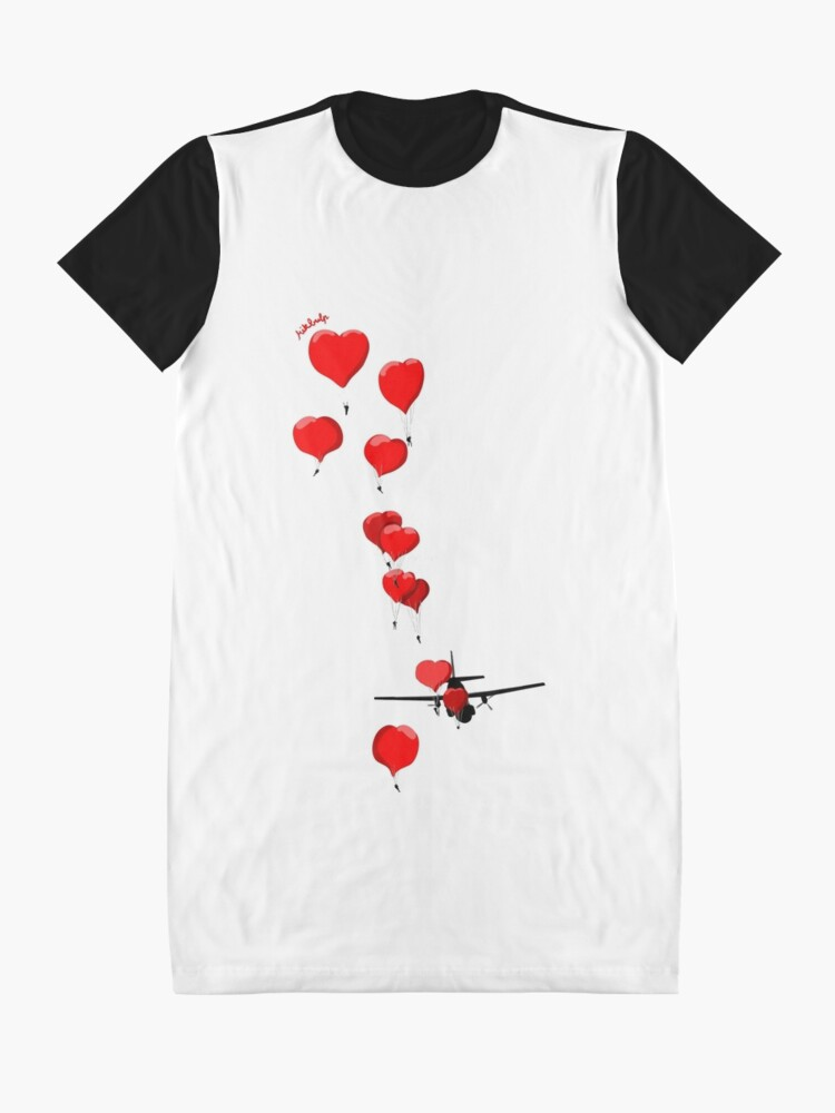 Alternate view of parachutes of love Graphic T-Shirt Dress
