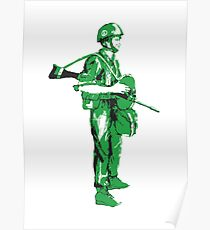Paratrooper - Green Poster