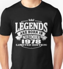 Legends are born in november 1978 Slim Fit T-Shirt