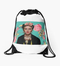 Frida Kahlo  strong woman Feminist Mexican artist Drawstring Bag