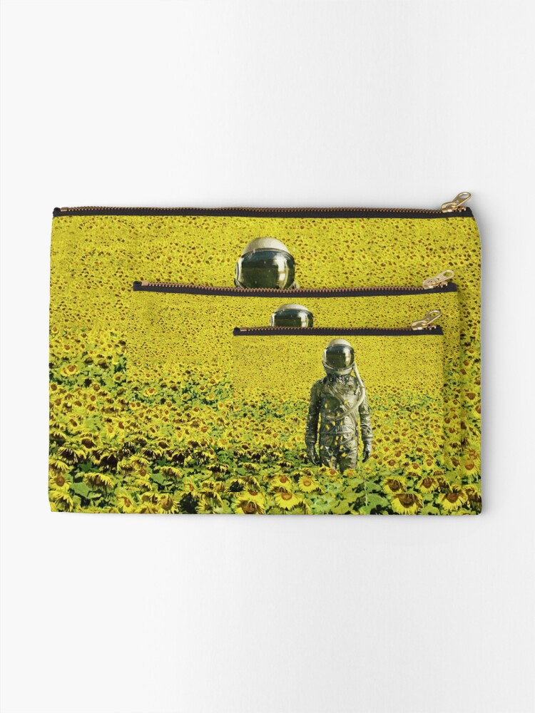 Alternate view of Stranded in the sunflower field Zipper Pouch