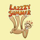 Sleepy sloth yawning and enjoying a lazy summer by Zoo-co