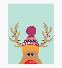 Rudolph Red Nosed Reindeer is looking at you on Christmas day Photographic Print