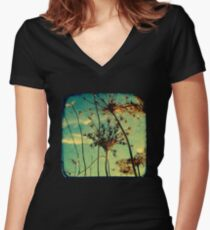 Head in the Clouds - TTV Women's Fitted V-Neck T-Shirt