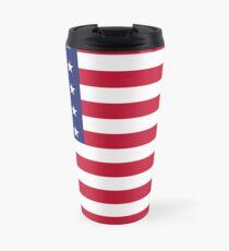 Taza de viaje bandera estadounidense