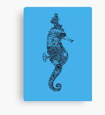"""""""Cecil"""" The Steampunk Seahorse Canvas Print"""